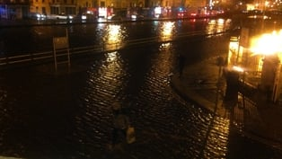 Flooding in Cork city centre this evening