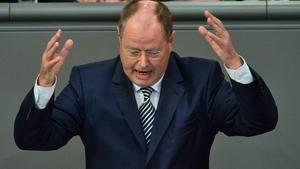 Peer Steinbrueck will stand against Angela Merkel in next year's German election