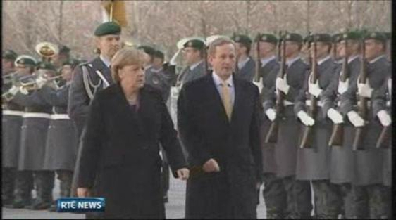 Angela Dorothea Merkel, German Chancellor, and An Taoiseach, Enda Kenny pictured in Germany on 17 November, 2011.