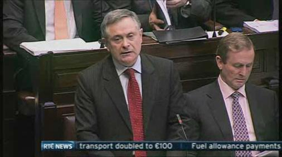 Brendan Howlin, Minister for Public Expenditure, 5 December, 2012