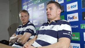 Joe Schmidt and Brian O'Driscoll at today's news conference