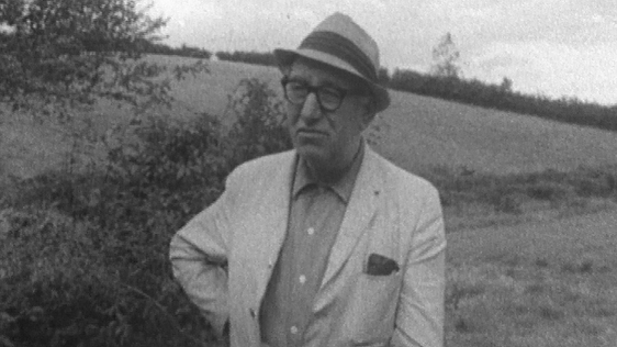 Patrick Kavanagh pictured in Inniskeen, Co. Monaghan