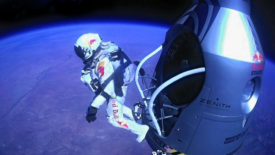Austrian daredevil Felix Baumgartner broke the sound barrier as he set the record for the world's highest skydive