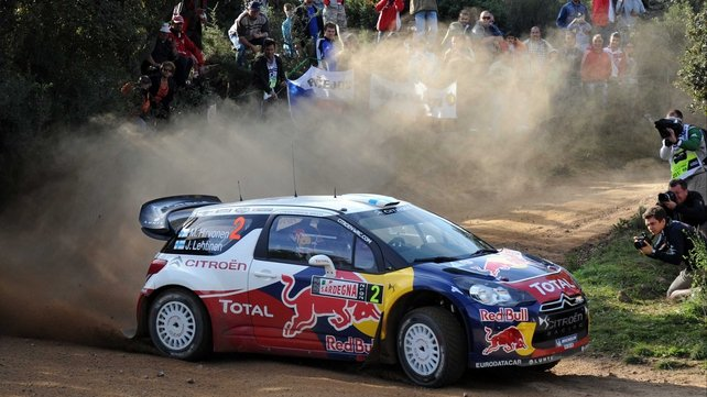 Mikko Hirvonen in his Citroen