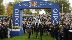 Frankel after winning the 2012 Qipco Champions Stakes at Ascot