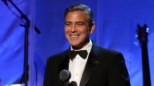 George Clooney was recognised for his charity work
