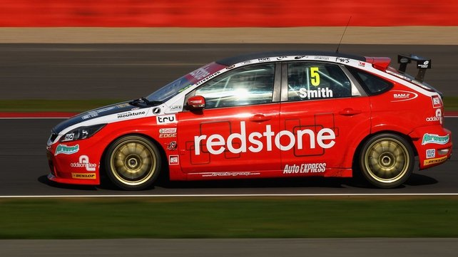 Aron Smith in his Redstone Racing car