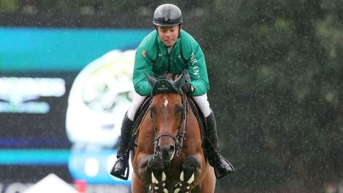 The 34-year-old was one of just seven combinations to get through to the jump-off