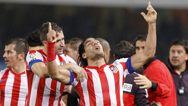 Falcao thanks the heavens after his late winner