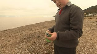 Oisin Millea found the bottle on the beach in Passage East