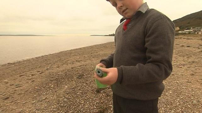 Oisin Millea found the bottle on the beach in Passage East