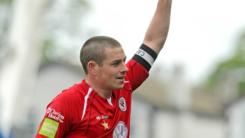 Danny Ventre was on target for the home side at the Showgrounds