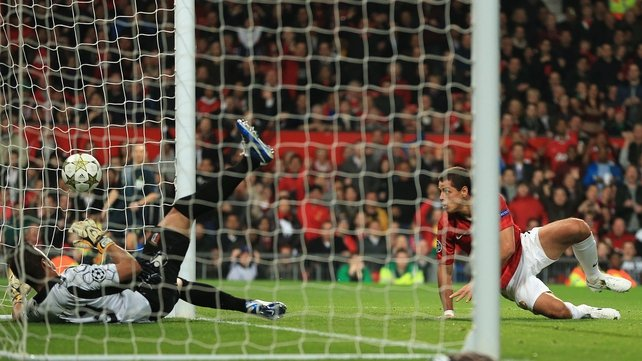 Javier Hernandez was back among the goals as United make it three wins from three in this season's Champions League