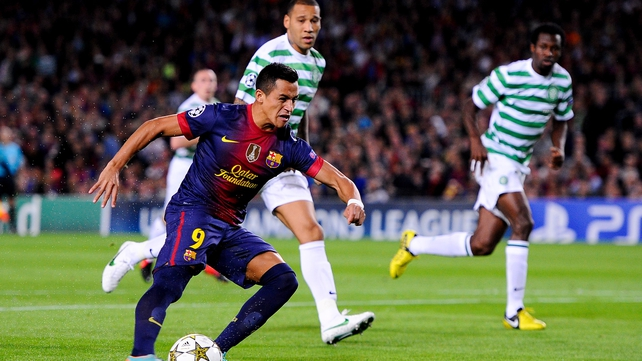 Celtic were undone by Barcelona in injury time at the Nou Camp