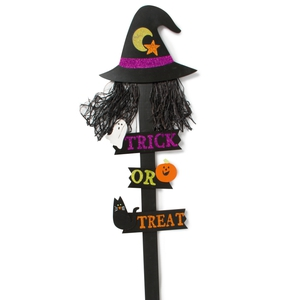 Witches hat Trick or Treat sign, Dunnes Stores, see in store for price.