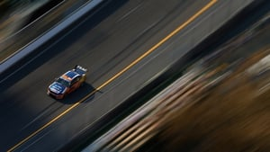 Will Davison drives the Tradingpost FPR Ford during practice for the Gold Coast 600 in Australia