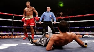 Kell Brook finishes Hector Saldivia with a knockout during their IBF Welterweight title fight in Sheffield