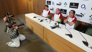 Declan Kidney at the Ireland squad announcement this afternoon