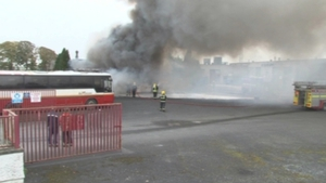 It is understood a blaze broke out in one of the old buses