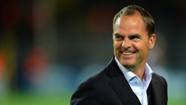 Ajax manager Frank de Boer speaks to RTÉ's Peter Collin following the 3-1 win over Man City