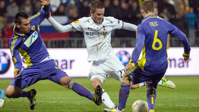 Gylfi Sigurdsson grabbed an equaliser for Tottenham in Maribor