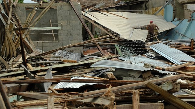 Hurricane Sandy toppled houses in eastern Cuba