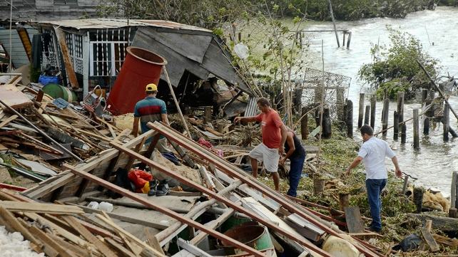 The storm left over 40 people dead as it swept through the Carribean
