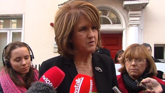 Joan Burton said the Irish people had made 'tremendous sacrifices'