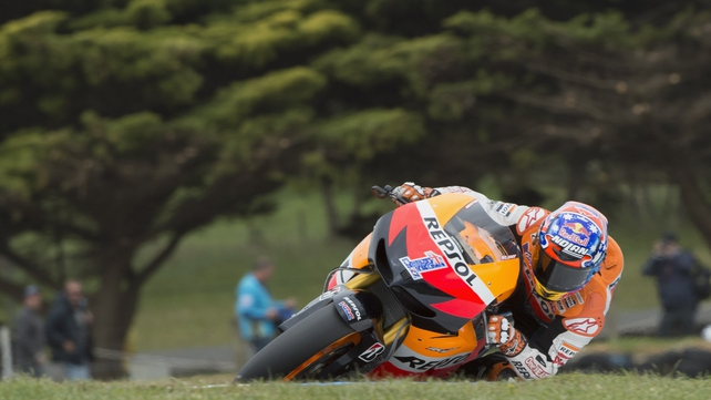 Casey Stoner has pole in Australia