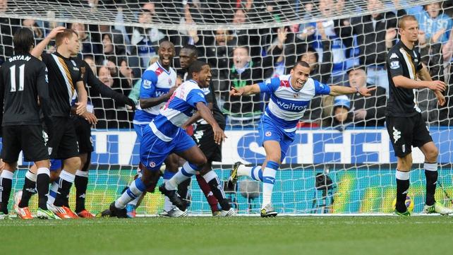 Hal Robson-Kanu celebrates scoring Reading's third goal