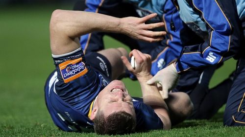 Brian O'Driscoll was taken off in the victory over Cardiff but the injury is not too serious