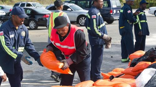Residents in Washington are stocking up on sandbags