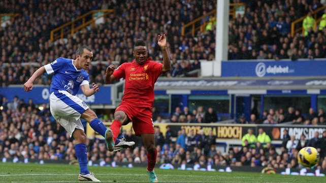 Leon Osman fired home Everton's equaliser