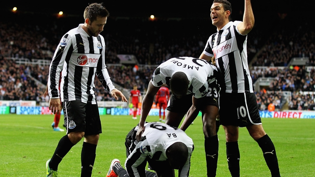 Demba Ba opened the scoring for Newcastle at St James' Park