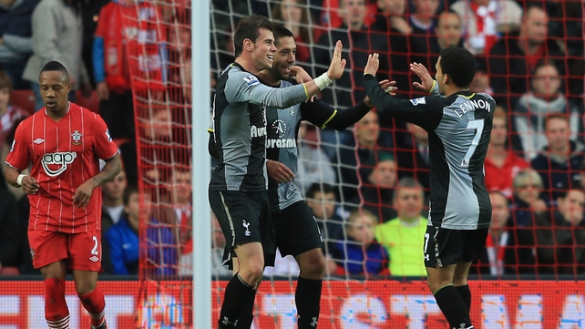 Clint Dempsey and Gareth Bale struck for Spurs as they beat Southampton at St Mary's