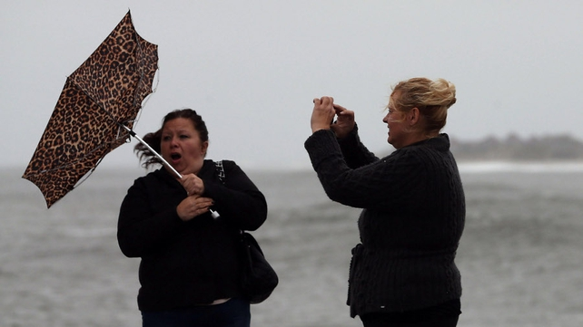 Hurricane Sandy is expected to hit the New Jersey coastline sometime tomorrow