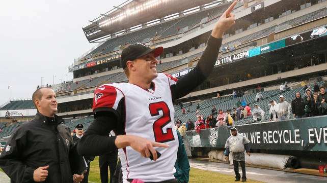 Matt Ryan takes the plaudits after the Falcons victory