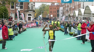 Magdalene Mukunzi, also from Kenya, was the first woman home in this year's event