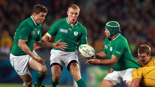 Brian O'Driscoll (left) and Rory Best (right) have been ruled out of Ireland's November Test matches