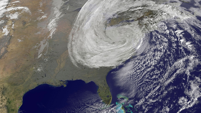 Super storm Sandy as seen from space (Pic: NASA)