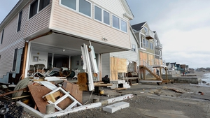 Several beachfront homes were damaged in Milford in Connecticut