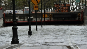 It remained flooded this afternoon and it could be closed for much of the week