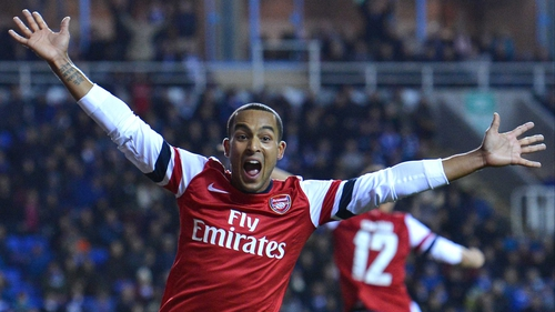 Theo Walcott was on form as Arsenal came from 4-0 down to win 7-5