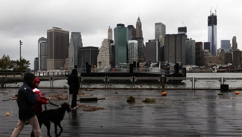 Manhattan is viewed after much of the city lost electricity due to the affects of Sandy