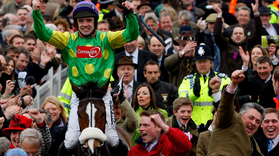 Ruby Walsh and Paul Nicholls take the plaudits after Kauto regained the Cheltenham Gold Cup in 2009