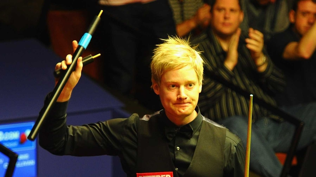 Neil Robertson will meet Shaun Murphy or John Higgins in the next round