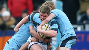 Peter Reilly in action for Castleknock during the 2010 Leinster Schools Senior Cup