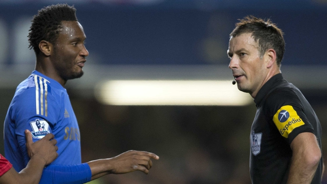 John Obi Mikel and Mark Clattenburg
