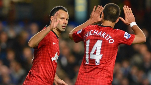 Ryan Giggs scored twice for United
