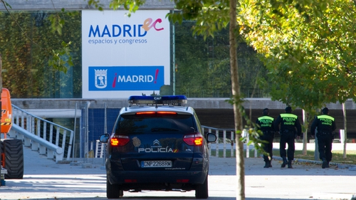 The stampede happened at the Madrid Arena